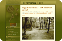 Pagan Dilemma – to Come Out or Not « Opening The Broomcloset